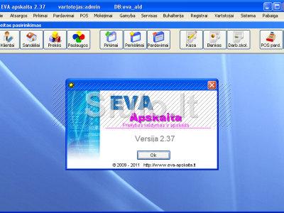 Apskaitos programa EVA prekybai, gamybai, servisui