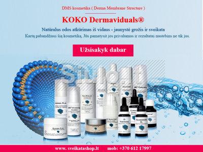 Dermaviduals - dermatologinė kosmetika, natūralus odos atkūrimas