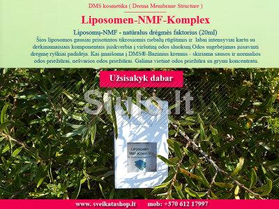 Liposomų - NMF Kompleksas - natūralus drėgmės faktorius 20ml
