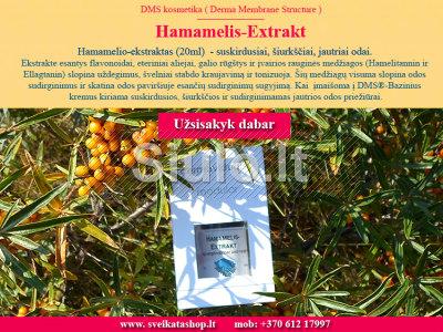Hamamelio - ekstraktas 20ml - SUSKIRDUSIAI, ŠIURKŠČIAI, JAUTRIAI odai