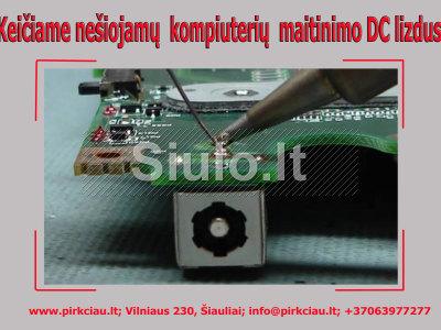 Nešiojamųjų kompiuterių įkrovimo maitinimo DC lizdų keitimas