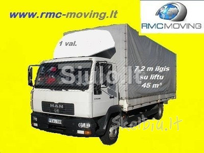 Pervežimas sunkvežimiu iki 5t RMC MOVING