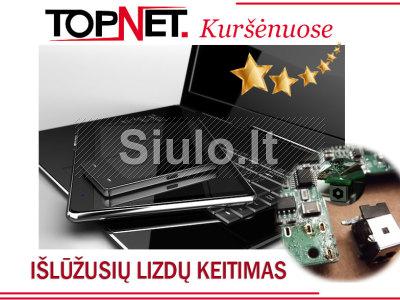Išlūžusių kompiuterių lizdų remontas Kuršėnuose