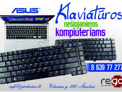 ASUS nešiojamų kompiuterių klaviatūros PIGIAI, remontas, montavimas, pardavimas
