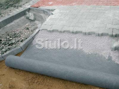 Geotekstilė - grunto stabilizavimui, atskyrimui ir filtravimui