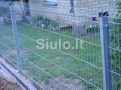 Metalinės segmentinės tvoros montavimas