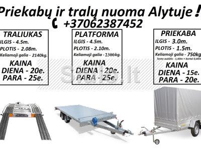 TRALIUKO PLATFORMOS PRIEKABOS NUOMA ALYTUS