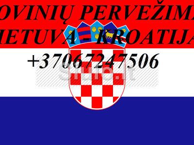 Perkraustymo paslaugos KROATIJA - Lietuva - KROATIJA LT - HR - LT