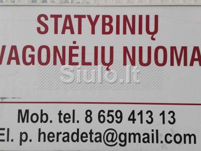 Statybinių vagonėlių nuoma Vilnius