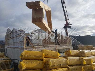 Stogo konstrukcijų santvarų gamyba ir montavimas