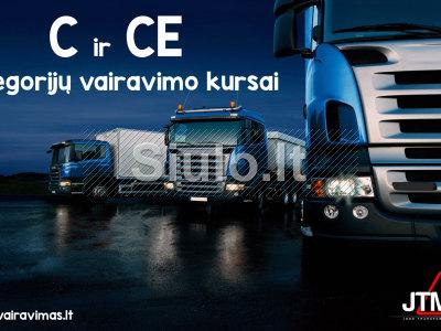 C, CE kategorijų vairavimo kursai Vilniuje